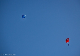 My first flying the parachute (blue chute).