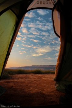 View from our tent.