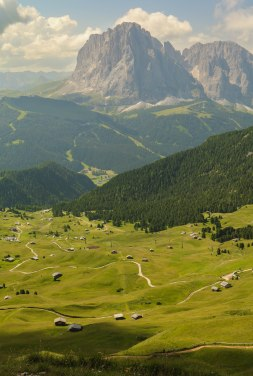Looking down the valley.