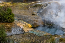 Turquoise hot spring.