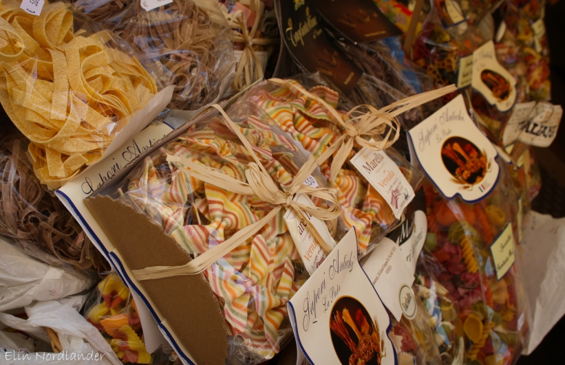 Colorful pasta from the land of pasta!