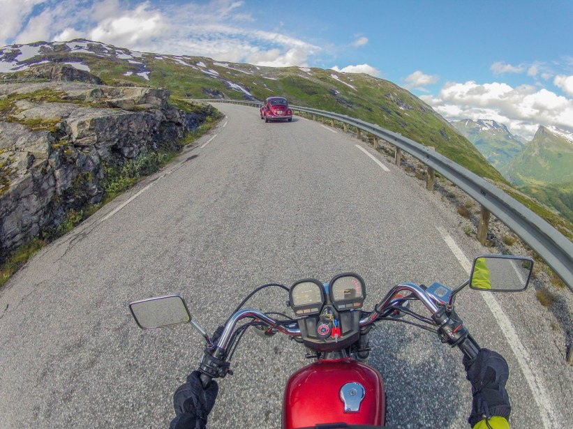 Driving on the top of Trollstigen.