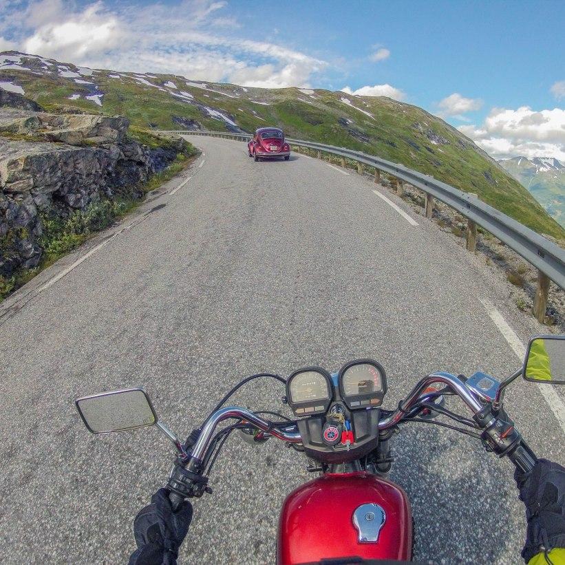 Driving on the top of Trollstigen.