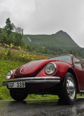 Ye ol´ beetle on the way up from Geiranger.