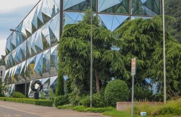 Modern building.