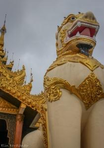 BIG statue guarding the entrance.
